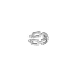 Earcuff linked zilver