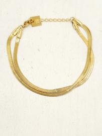 Zag Bijoux Armband double chain