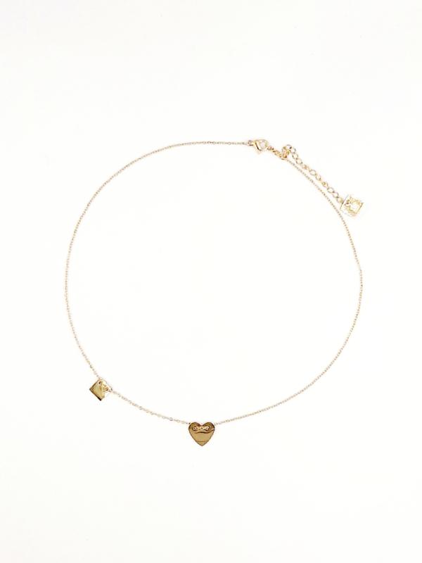 Zag Bijoux ketting golden heart