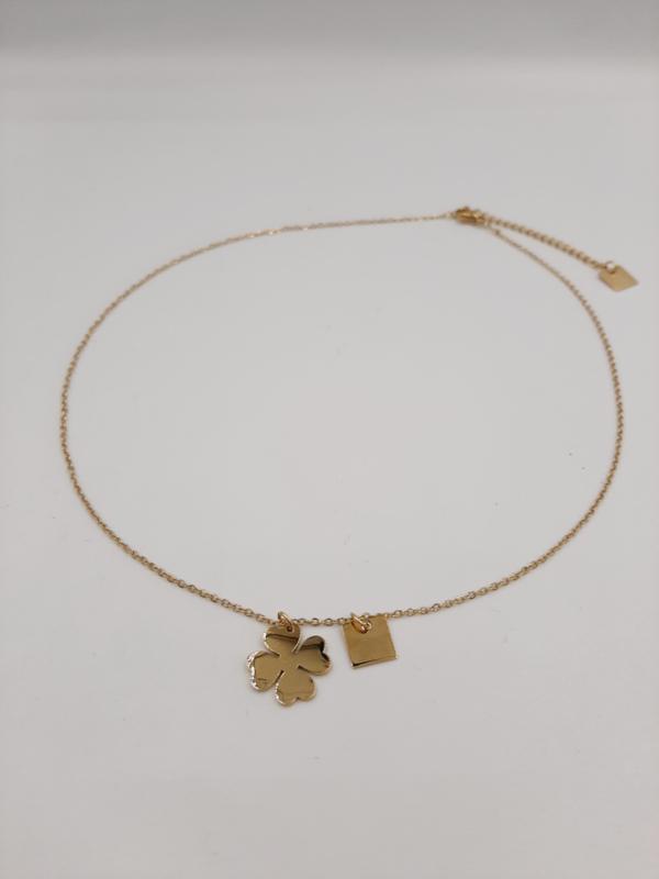Zag Bijoux Ketting clover goud
