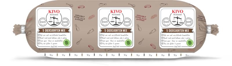 5 diersoorten  mix ( 500 gram)