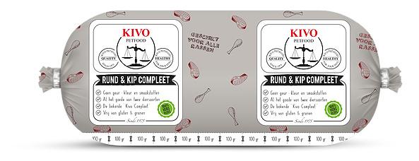 Kivo Compleet Rund en Kip (500 grams rol)