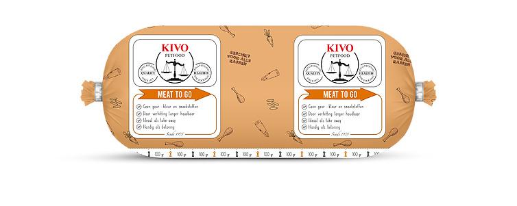Kivo Meat to go (kennelworst) (kilorollen)