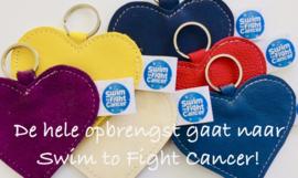 SWIM TO FIGHT CANCER HART SLEUTELHANGER