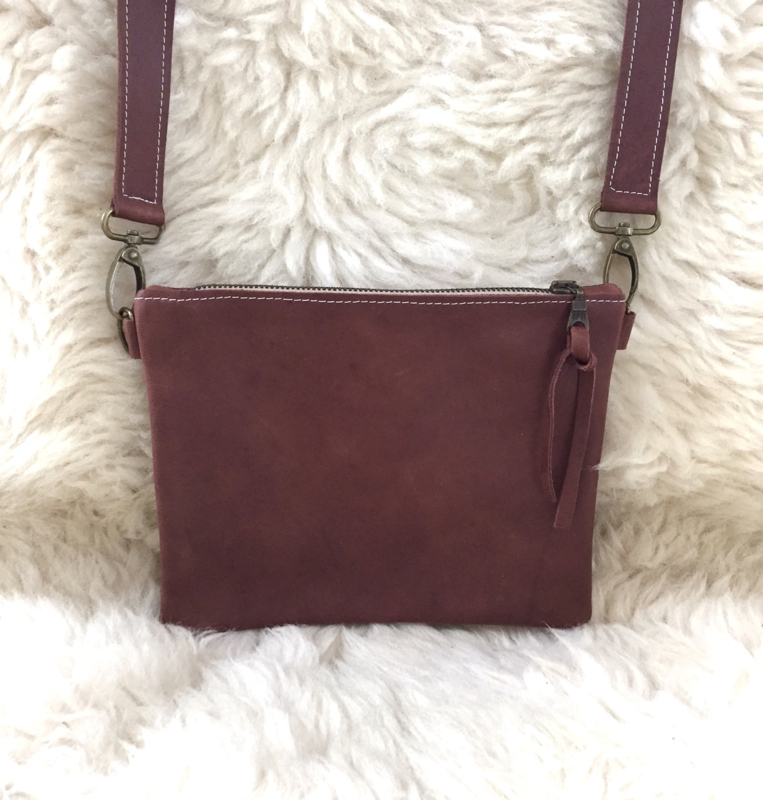 BRUIN LEREN RECHTE BASIC TAS - CROSS BODY