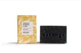 5 x Babongo facial soap Charcoal, Rosemary & Lime