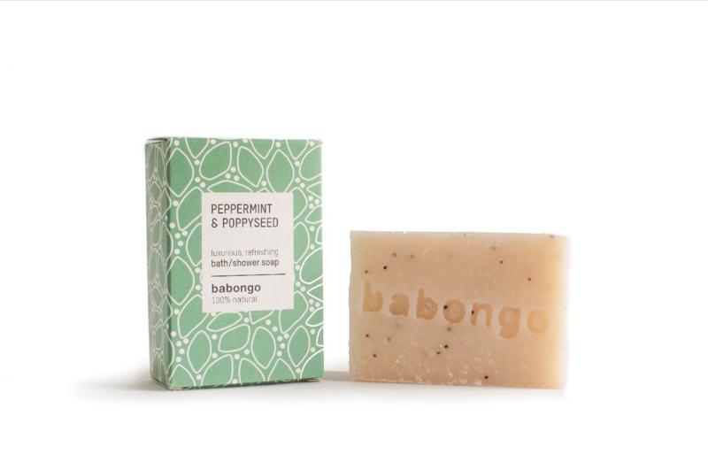 Babongo bath soap Peppermint & Poppyseed