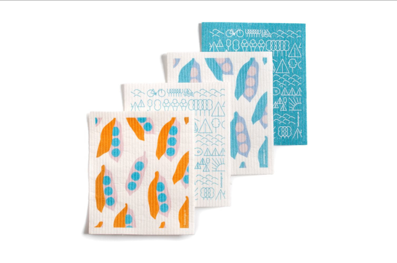 Set van 4 Babongo biodegradable dish cloths