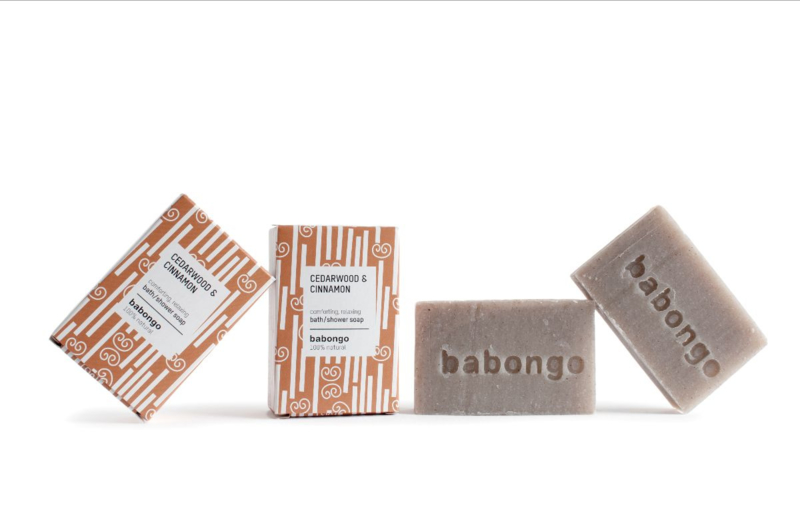 Babongo bath/shower soap Cedarwood & Cinnamon