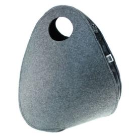 TOO2LATE TAS | Dark Grey black zipper