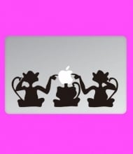 MONKEY BUSINES | Apple Notebook stickers