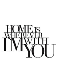 RÄDER AT HOME WANDSTICKER  | Home is wherever im whith you