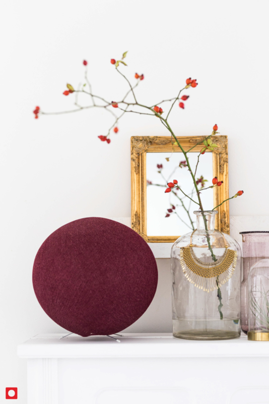 STAANDE LAMP | Wijnrood