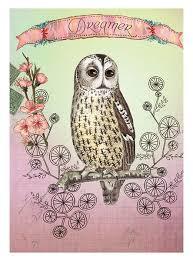 PAPAYA ART CANVAS | Owl Dreamer