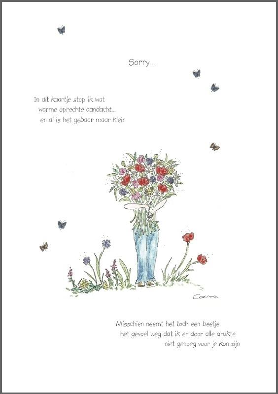 Corinne van Keeken Wenskaart 'Sorry'