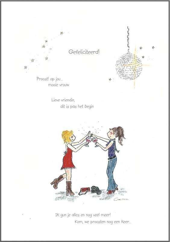 Corinna van Keeken Wenskaart 'Gefeliciteerd'