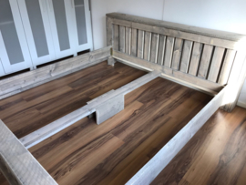 Steigerhouten 2 persoons bed