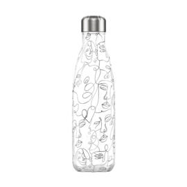 Chilly's Bottle 500ML ART LINE FACES