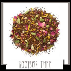 Rooibos thee als losse thee bevat geen theïne en is gezond