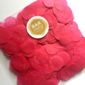Confetti fuchsia roze