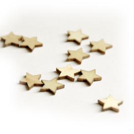 Houten figuurtjes - sterretje klein
