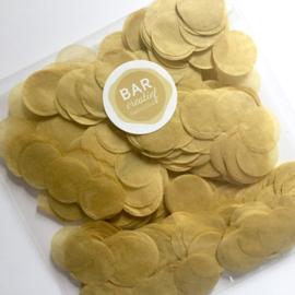 Confetti goudkleurig/taupe