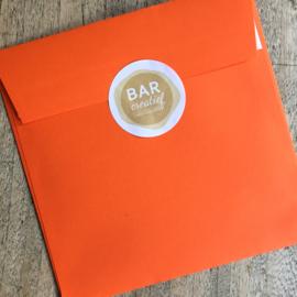 Envelop 14x14 cm - oranje