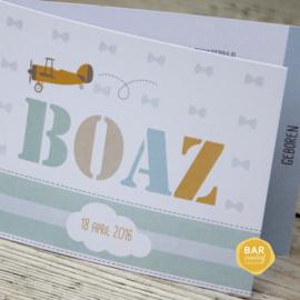 Geboortekaartje Boaz
