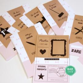 Gepersonaliseerde milestone cards - Peuter