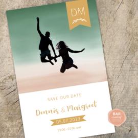 Save-the-date-kaart Dennis & Margreet