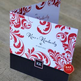 Trouwkaart Kees & Kimberly