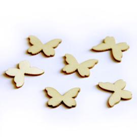 Houten figuurtjes - vlindertje