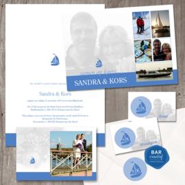 Trouwkaart Kors & Sandra