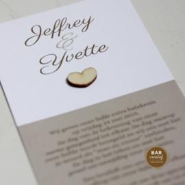 Trouwkaart Jeffrey & Yvette