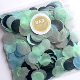 Confetti zilverkleurig/mint/lichtblauw/grijs/zwart