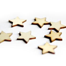 Houten figuurtjes - sterretje
