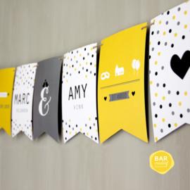Trouwkaart Marc & Amy