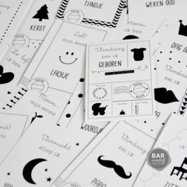 Milestone cards - Baby