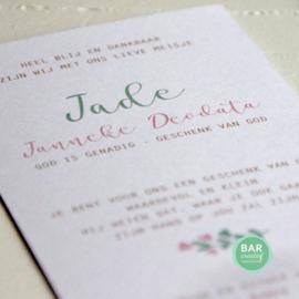 Geboortekaartje Jade