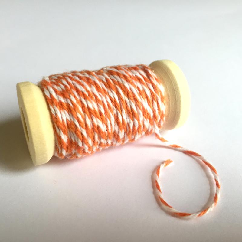Bakkerstouw oranje - 8 meter