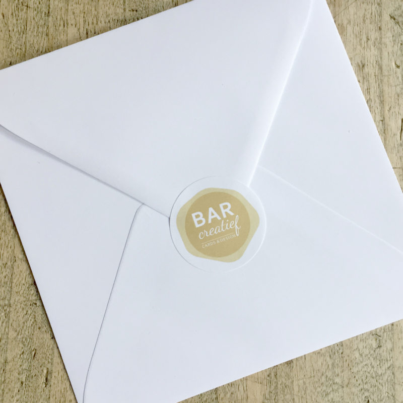 Envelop 15,5x15,5 cm - wit