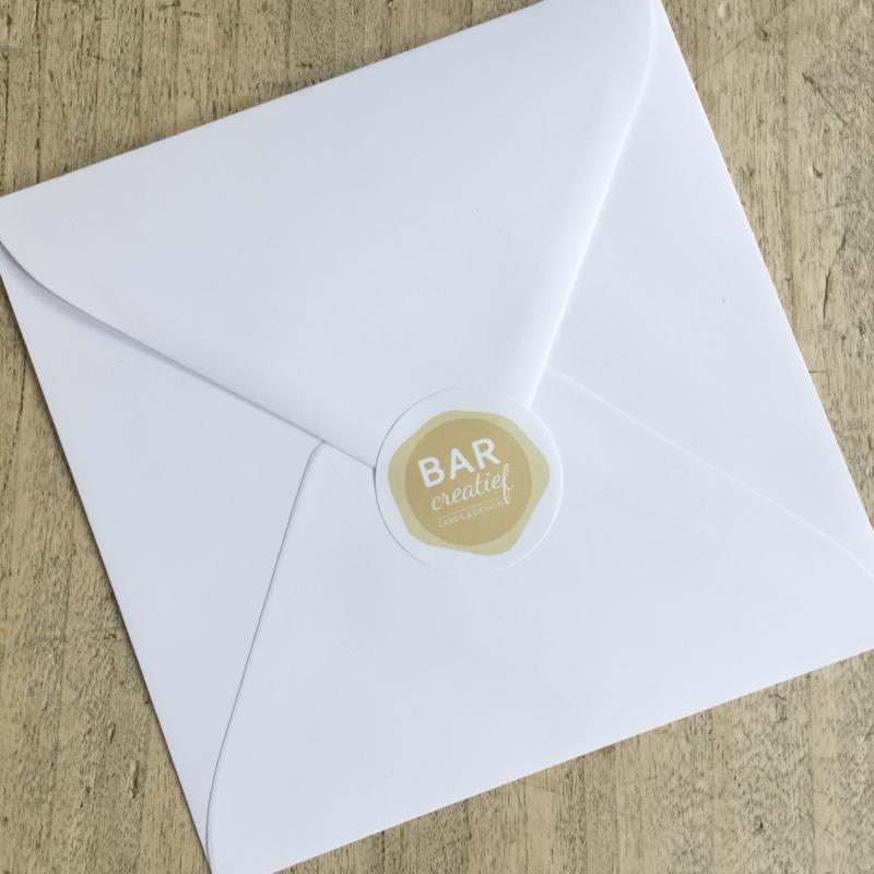 Envelop 14x14 cm - wit