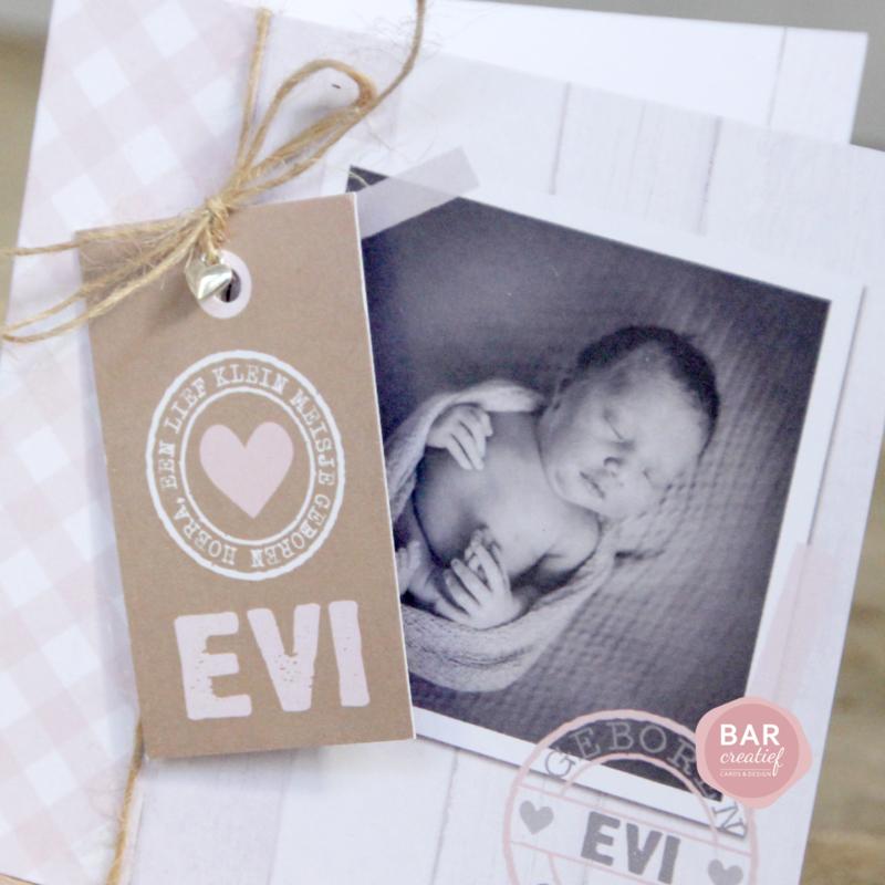 Geboortekaartje Evi