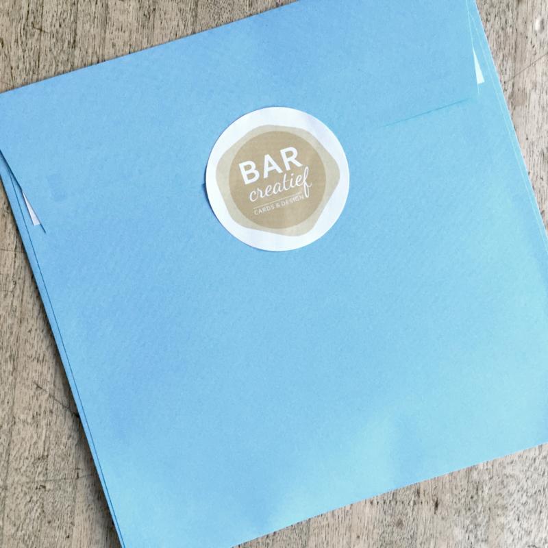 Envelop 14x14 cm - lichtblauw