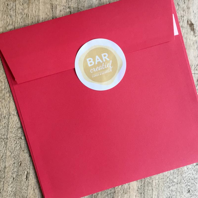 Envelop 14x14 cm - rood