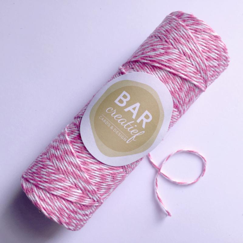 Bakkerstouw roze - 100 meter