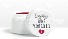 Paintgel by #LVS Red 7ml. Oude Verpakking