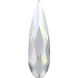 Flat Back Raindrops Crystal AB 6x1.7mm