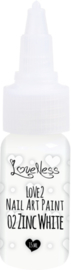 Nail Art Paint 02 Zinc White 15ml