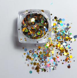 Holografic Gold & Silver Glitter Flitter